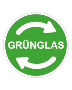 Recycling Wertstoff Mülltrennung Symbol Grünglas