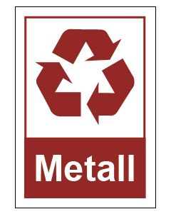 Recycling Wertstoff Mülltrennung Symbol Metall
