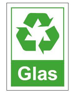 Recycling Wertstoff Mülltrennung Symbol Glas