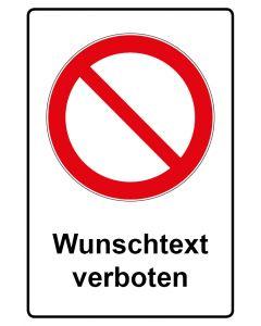 Verbotszeichen mit Text · Aufkleber | Schild | Magnetschild · Allgemeines Verbotszeichen