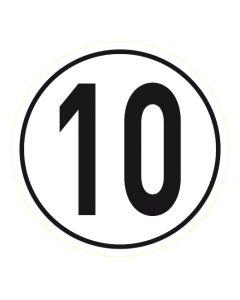 Geschwindigkeitszeichen · Aufkleber | Schild | Magnetschild · 10 km/h