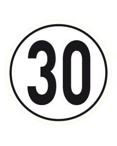 Geschwindigkeitszeichen · Aufkleber | Schild | Magnetschild · 30 km/h
