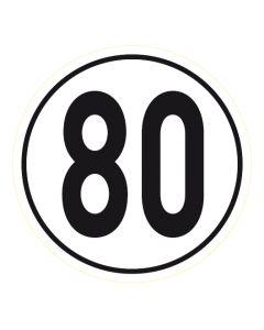 Geschwindigkeitszeichen · Aufkleber | Schild | Magnetschild · 80 km/h