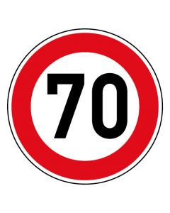 Verkehrszeichen Tempo Limit · Aufkleber | Schild | Magnetschild · 70 km/h