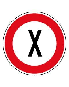 Verkehrszeichen Tempo Limit · Aufkleber | Schild | Magnetschild · Wunschziffer km/h