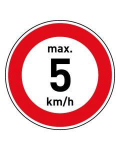 Verkehrszeichen · Aufkleber | Schild | Magnetschild · Zulässige Höchstgeschwindigkeit 5 km/h
