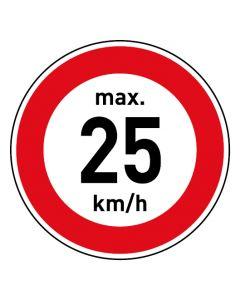 Verkehrszeichen · Aufkleber | Schild | Magnetschild · Zulässige Höchstgeschwindigkeit 25 km/h