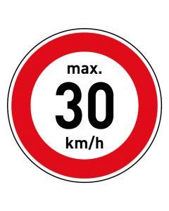 Verkehrszeichen · Aufkleber | Schild | Magnetschild · Zulässige Höchstgeschwindigkeit 30 km/h