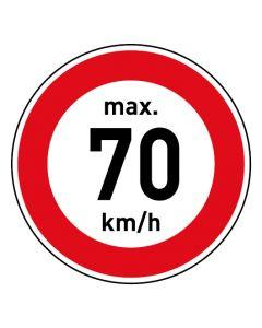 Verkehrszeichen · Aufkleber | Schild | Magnetschild · Zulässige Höchstgeschwindigkeit 70 km/h