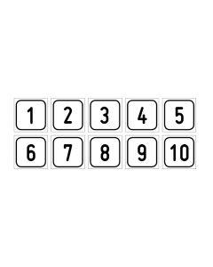 "Zahlenset · Aufkleber | Schild | Magnetschild · ""1-10"""