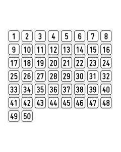 "Zahlenset · Aufkleber | Schild | Magnetschild · ""1-50"""