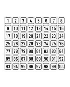 "Zahlenset · Aufkleber | Schild | Magnetschild · ""1-100"""