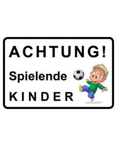 Hinweiszeichen · Aufkleber | Schild · Achtung Spielende Kinder | Mod. 5