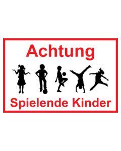 Hinweiszeichen · Aufkleber | Schild · Achtung Spielende Kinder | Mod. 31