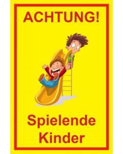 Hinweiszeichen · Aufkleber | Schild · Achtung Spielende Kinder | Mod. 103