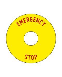 Aufkleber Emergency STOP rund | gelb · rot