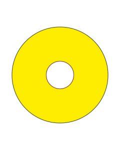 Aufkleber Emergency STOP rund | gelb · blanko