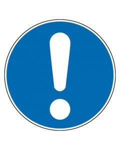 Gebotszeichen · Aufkleber | Schild | Magnetschild | Fußbodenaufkleber · Allgemeines Gebotszeichen