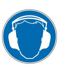 Gebotszeichen · Aufkleber | Schild | Magnetschild | Fußbodenaufkleber · Gehörschutz benutzen