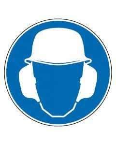 Gebotszeichen · Aufkleber | Schild | Magnetschild | Fußbodenaufkleber · Gehör- und Kopfschutz benutzen