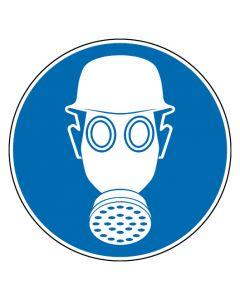 Gebotszeichen · Aufkleber | Schild | Magnetschild | Fußbodenaufkleber · Kopf- und Atemschutz tragen
