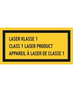 Hinweiszeichen · Aufkleber | Schild · Laserklasse 1 · 3-sprachig