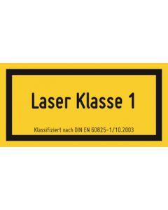 Hinweiszeichen · Aufkleber | Schild · Laserklasse 1