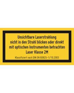 Hinweiszeichen · Aufkleber | Schild · Laserklasse 2M · Unsichtbare Strahlung