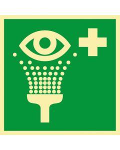 Rettungszeichen · Aufkleber | Schild | Magnetschild · Augenspüleinrichtung Augendusche · lang nachleuchtend