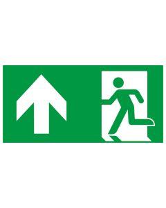 Rettungszeichen kombiniert · Aufkleber | Schild | Magnetschild · Fluchtrichtung Pfeil nach oben