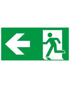 Rettungszeichen kombiniert · Aufkleber | Schild | Magnetschild · Fluchtrichtung Pfeil nach links