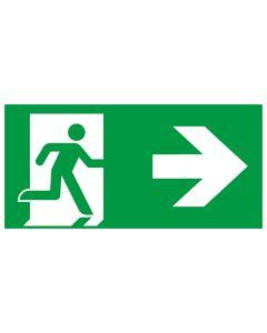 Rettungszeichen kombiniert · Aufkleber | Schild | Magnetschild · Fluchtrichtung Pfeil nach rechts