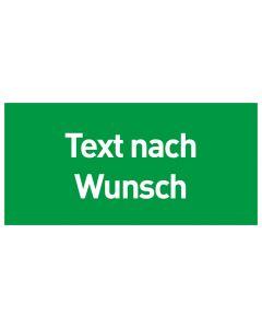 Rettungszeichen · Aufkleber | Schild | Magnetschild · Text nach Wunsch