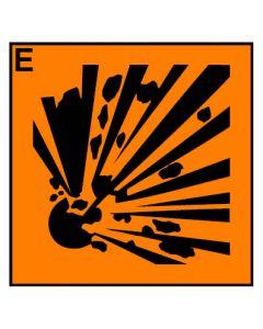 Gefahrstoffzeichen · Aufkleber | Schild | Magnetschild · explosionsgefährlich Hazard_E