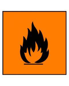 Gefahrstoffzeichen · Aufkleber | Schild · leichtentzündlich Hazard_F
