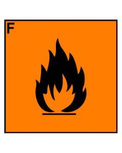 Gefahrstoffzeichen · Aufkleber | Schild | Magnetschild · leichtentzündlich Hazard_F