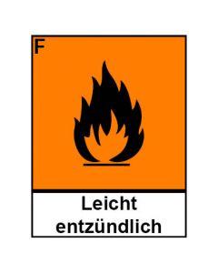 Gefahrstoffzeichen · Aufkleber | Schild | Magnetschild · leichtentzündlich Hazard_F (Piktogramm+Text)