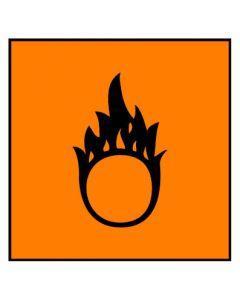 Gefahrstoffzeichen · Aufkleber | Schild · brandfördernd Hazard_O