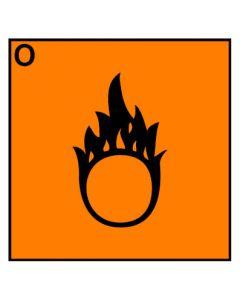 Gefahrstoffzeichen · Aufkleber | Schild | Magnetschild · brandfördernd Hazard_O