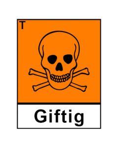 Gefahrstoffzeichen · Aufkleber | Schild | Magnetschild · giftig Hazard_T (Piktogramm+Text)