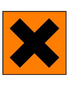 Gefahrstoffzeichen · Aufkleber | Schild | Magnetschild · gesundheitsschädlich Hazard_x