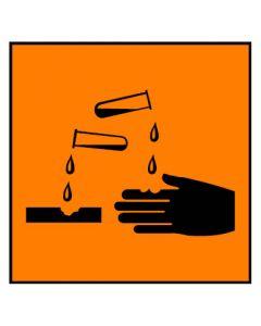 Gefahrstoffzeichen · Aufkleber | Schild · ätzend Hazard_C