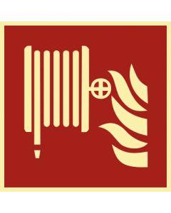 Brandschutzzeichen · Aufkleber | Schild | Magnetschild · Löschschlauch · lang nachleuchtend