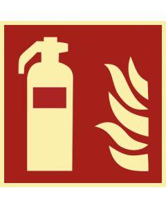 Brandschutzzeichen · Aufkleber | Schild | Magnetschild · Feuerlöscher · lang nachleuchtend