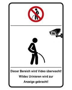 Schild | Aufkleber | Magnetschild · Wildes Urinieren wird zur Anzeige gebracht