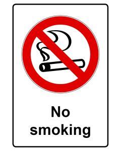Verbotszeichen mit Text · Aufkleber | Schild | Magnetschild · No smoking