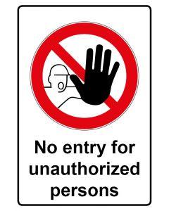 Verbotszeichen mit Text · Aufkleber | Schild | Magnetschild · No entry for unauthorized persons