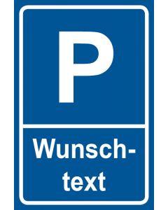 Parkschild Wunschtext · Aufkleber | Schild | Magnetschild