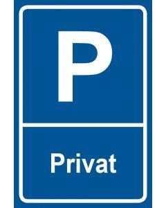 Parkschild Privat · Aufkleber | Schild | Magnetschild