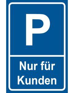 Parkschild Nur für Kunden · Aufkleber | Schild | Magnetschild